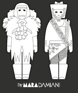 Museo delle Maschere Mamoiada - illustrazione Mara Damiani
